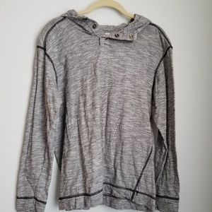 Hudson & Barrow gray Pullover with hood